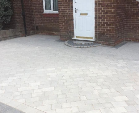completed block paving job