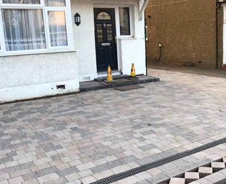 residential block paving driveway job